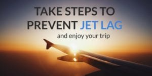 airplane flight how to prevent jet lag