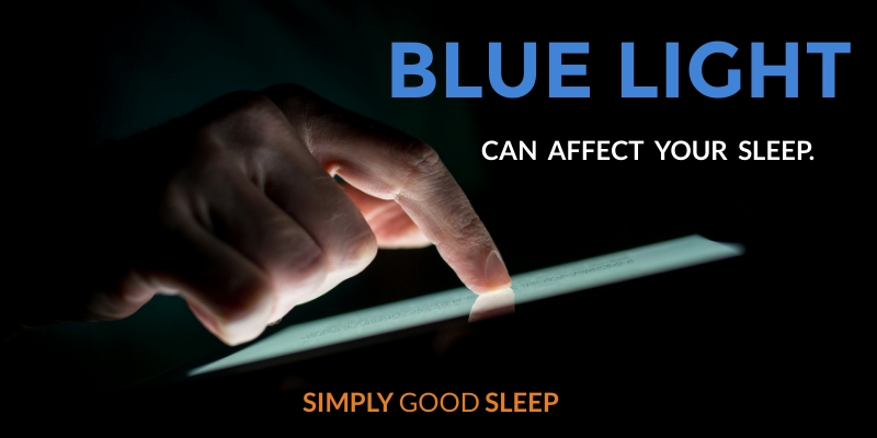 Blue Light from an Electronic Device Can Affect Sleep Image