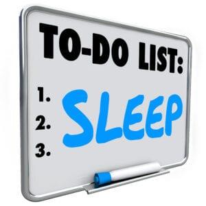 To do list - SLEEP