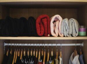 Clothes Storage in the Closet using the KonMari way