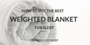 Simply Good Sleep Weighted Blanket