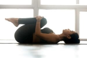 Knee to Chest (Apanasana) in Yoga for Sleep Insomnia or Deep Relaxation Simply Good Sleep