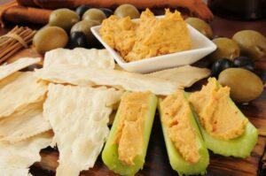 Hummus-Stuffed Celery Stalks Bedtime Snack for Better Sleep