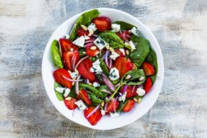 Strawberry Spinach Salad Bedtime Snack for Better Sleep