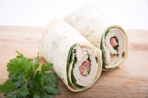 Turkey and Spinach Roll Bedtime Snack for Better Sleep