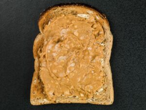 Whole Grain Toast Spread with Peanut Butter Bedtime Snack for Better Sleep