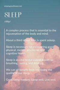 SLEEP - Simply Good Sleep